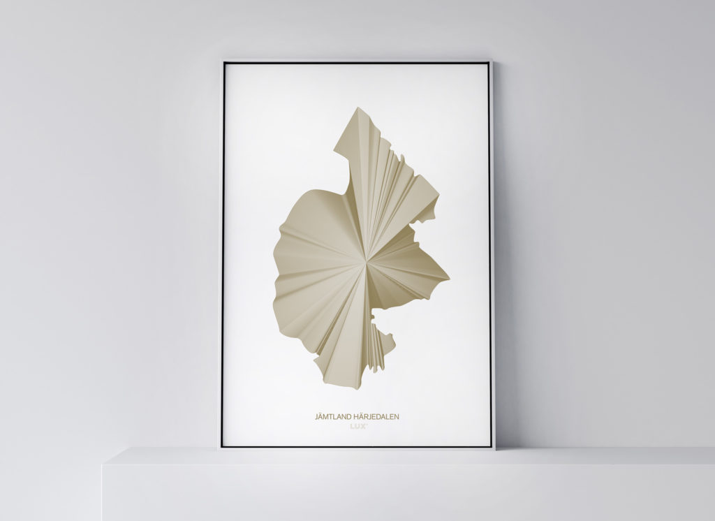Jämtland Härjedalen poster 50x70 cm