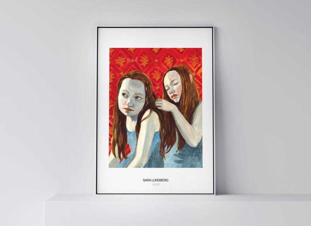 """Konstposter Sara Lundberg """"Fågeln i mig flyger vart den vill"""""""